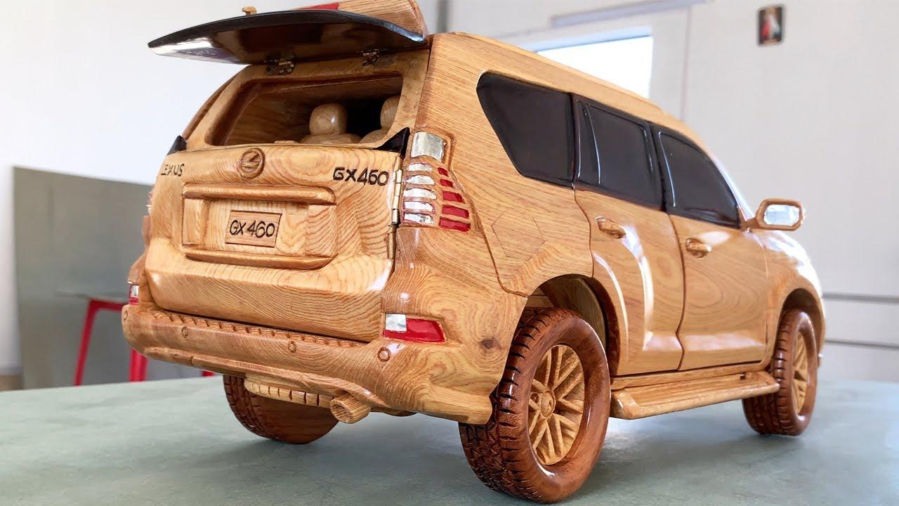 Wood Carving - 2021 Lexus GX 460 (Unique Wooden Car) - Woodworking Art