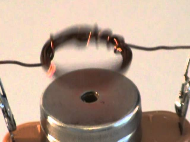 Simple electric motor (classic) - Science experiment