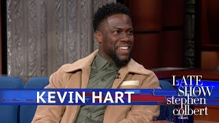 "'The Upside' star Kevin Hart tries out the material he was preparing for the Oscars ceremony.  Subscribe To ""The Late Show"" Channel HERE: http://bit.ly/ColbertYouTube For more content from ""The Late Show with Stephen Colbert"", click HERE: http://bit.ly/1AKISnR Watch full episodes of ""The Late Show"" HERE: http://bit.ly/1Puei40 Like ""The Late Show"" on Facebook HERE: http://on.fb.me/1df139Y Follow ""The Late Show"" on Twitter HERE: http://bit.ly/1dMzZzG Follow ""The Late Show"" on Google+ HERE: http://bit.ly/1JlGgzw Follow ""The Late Show"" on Instagram HERE: http://bit.ly/29wfREj Follow ""The Late Show"" on Tumblr HERE: http://bit.ly/29DVvtR  Watch The Late Show with Stephen Colbert weeknights at 11:35 PM ET/10:35 PM CT. Only on CBS.  Get the CBS app for iPhone & iPad! Click HERE: http://bit.ly/12rLxge  Get new episodes of shows you love across devices the next day, stream live TV, and watch full seasons of CBS fan favorites anytime, anywhere with CBS All Access. Try it free! http://bit.ly/1OQA29B  --- The Late Show with Stephen Colbert is the premier late night talk show on CBS, airing at 11:35pm EST, streaming online via CBS All Access, and delivered to the International Space Station on a USB drive taped to a weather balloon. Every night, viewers can expect: Comedy, humor, funny moments, witty interviews, celebrities, famous people, movie stars, bits, humorous celebrities doing bits, funny celebs, big group photos of every star from Hollywood, even the reclusive ones, plus also jokes."