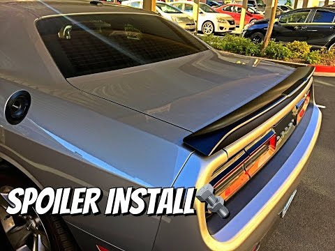 How to install/replace spoiler on a Dodge Challenger