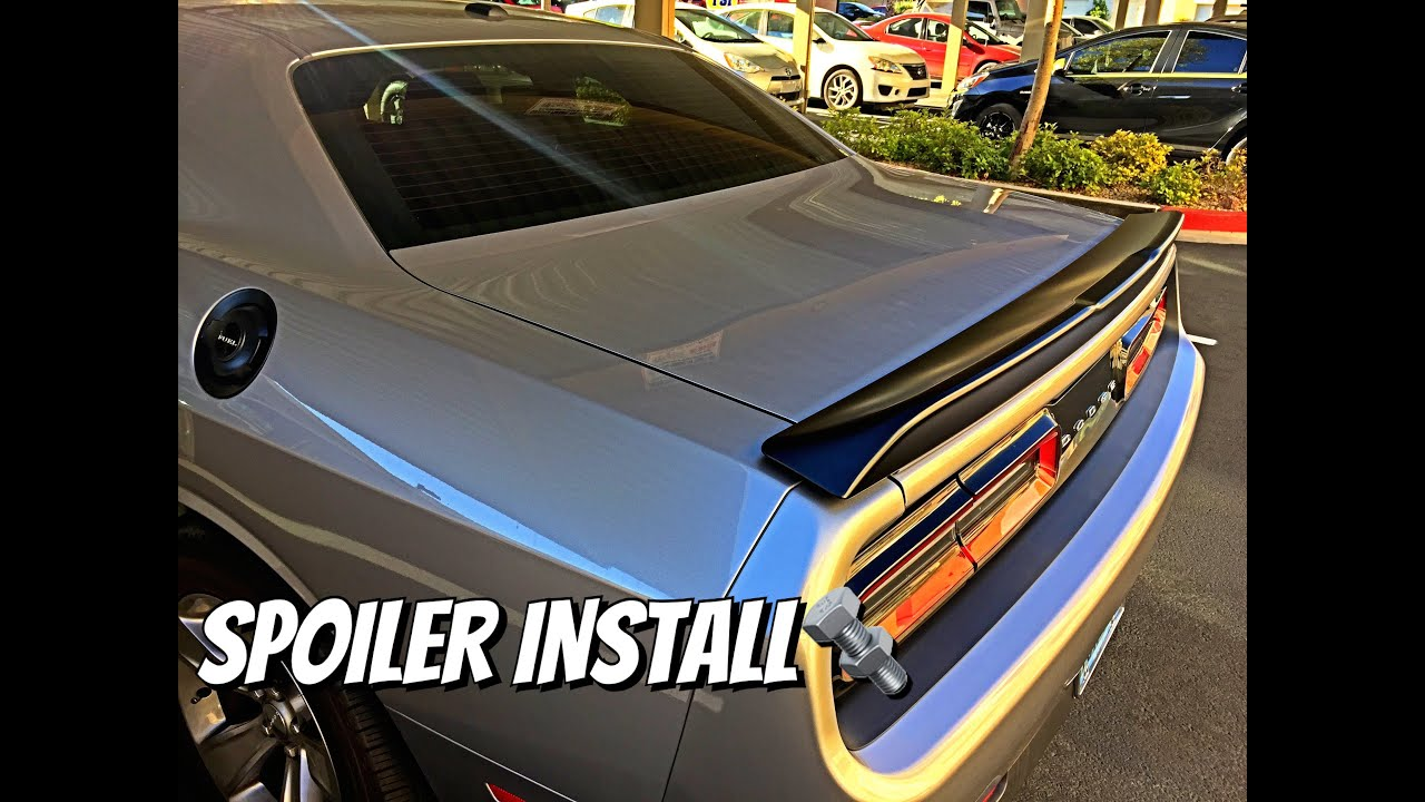 How To Install Replace Spoiler On A Dodge Challenger