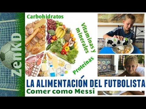 alimentacion para un niño futbolista
