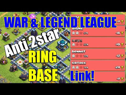 Th13 War And Legend League Anti 2star Ring Base Difence Replay With Base Link 2020. Clash Of Clans.