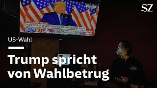 Trump spricht von Wahlbetrug