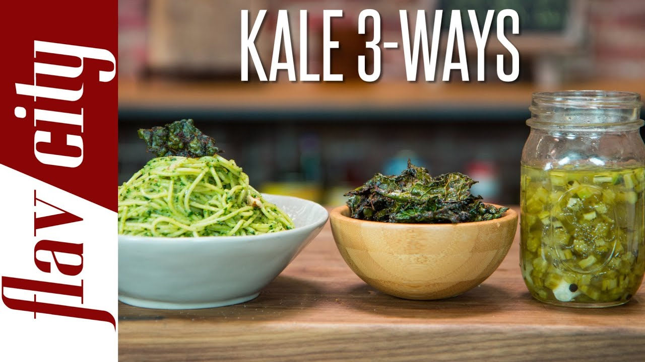Cooking kale stems