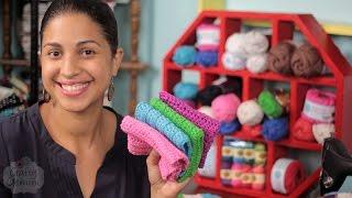 Crochet Washcloth Tutorial & Yarn GIVEAWAY!