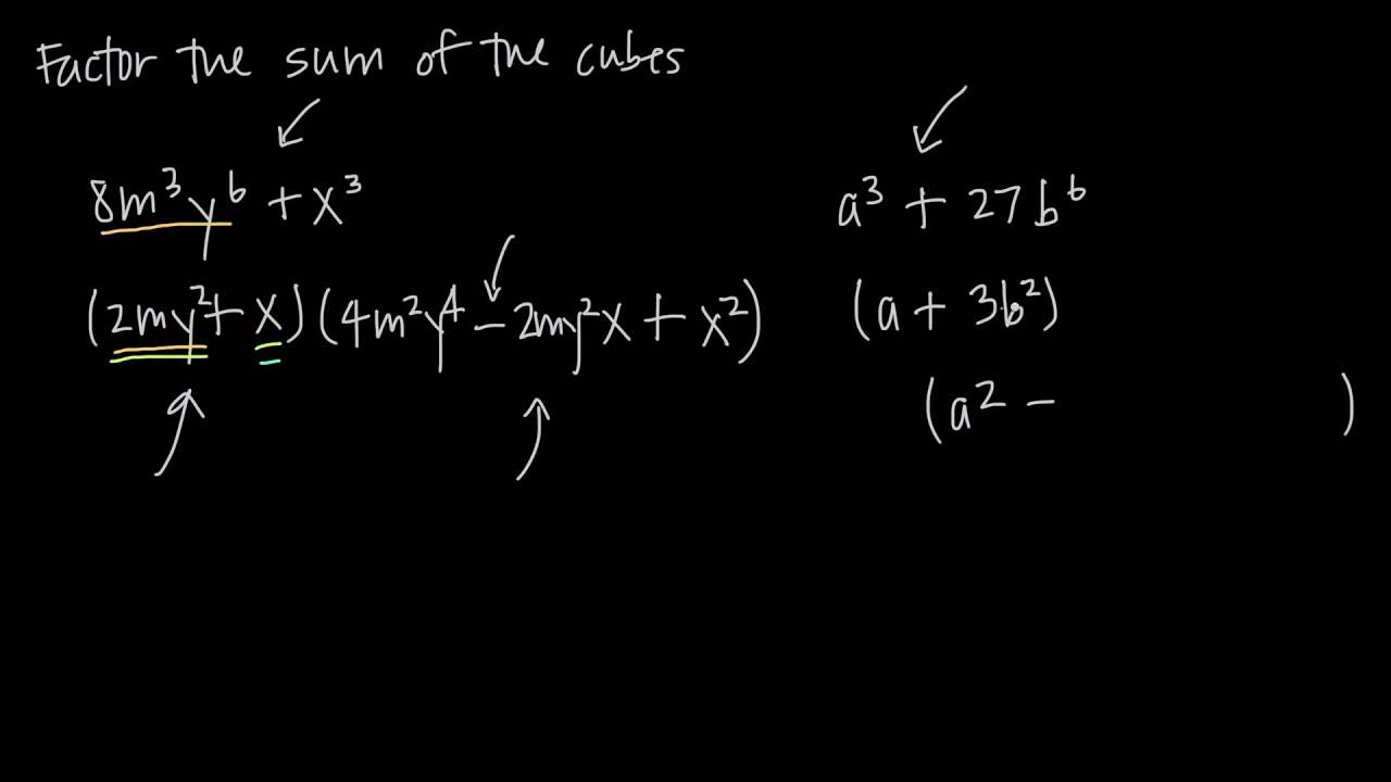 factoring the sum of cubes (KristaKingMath)