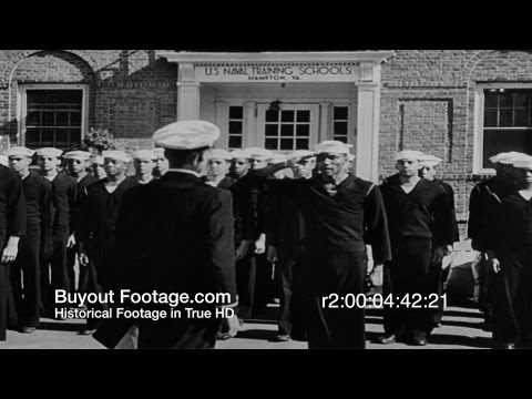 HD Stock Footage WWII - The Negro Sailor R2, Bravery, African American, Black, Navy