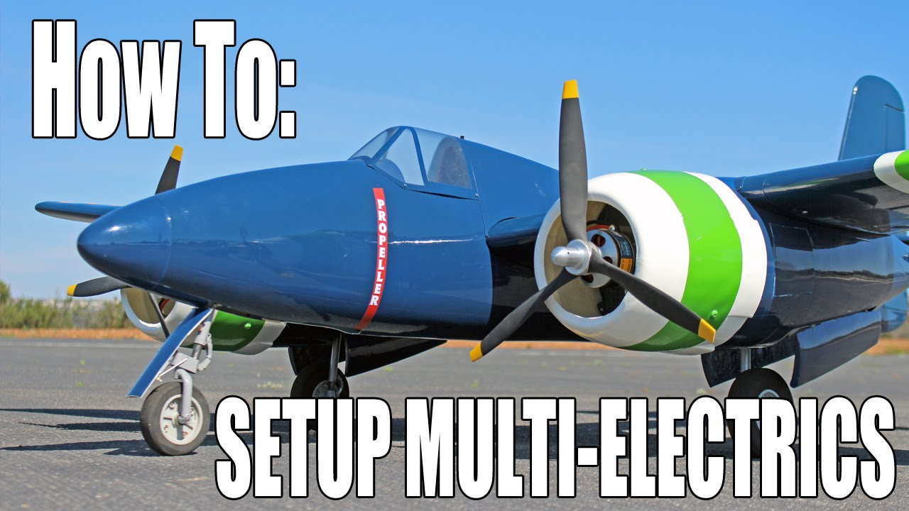 Setting up a Multi-Engine Electric RC Aircraft (F7F Tigercat