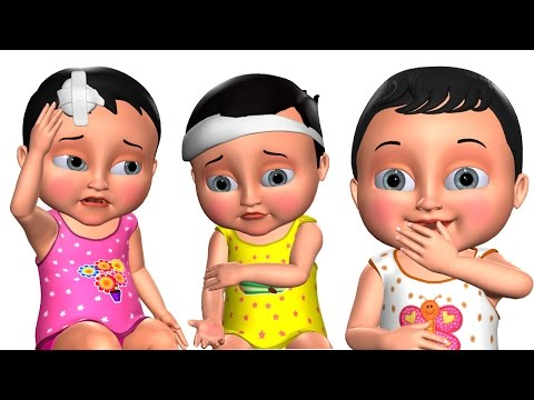 Five Little Babies Jumping On The Bed | Kids' Songs | 3D Nursery Rhymes for Children