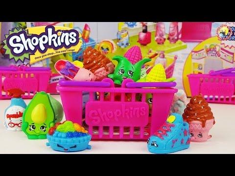 Шопкинс - обзор игрового набора. Корзиночки с сюрпризами, фигурки  Shopkins Series 2 Playset Moose
