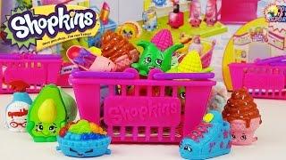 Шопкинс - обзор игрового набора. Корзиночки с сюрпризами, фигурки / Shopkins Series 2 Playset Moose