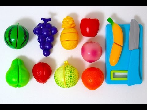 Toy Cutting fruit Velcro Just like home playset Cooking Playset Deluxe Slice and Play Food Set