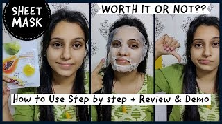 How to Use Sheet Masks Step by Step | Korean Sheet Masks | mirabelle | Review