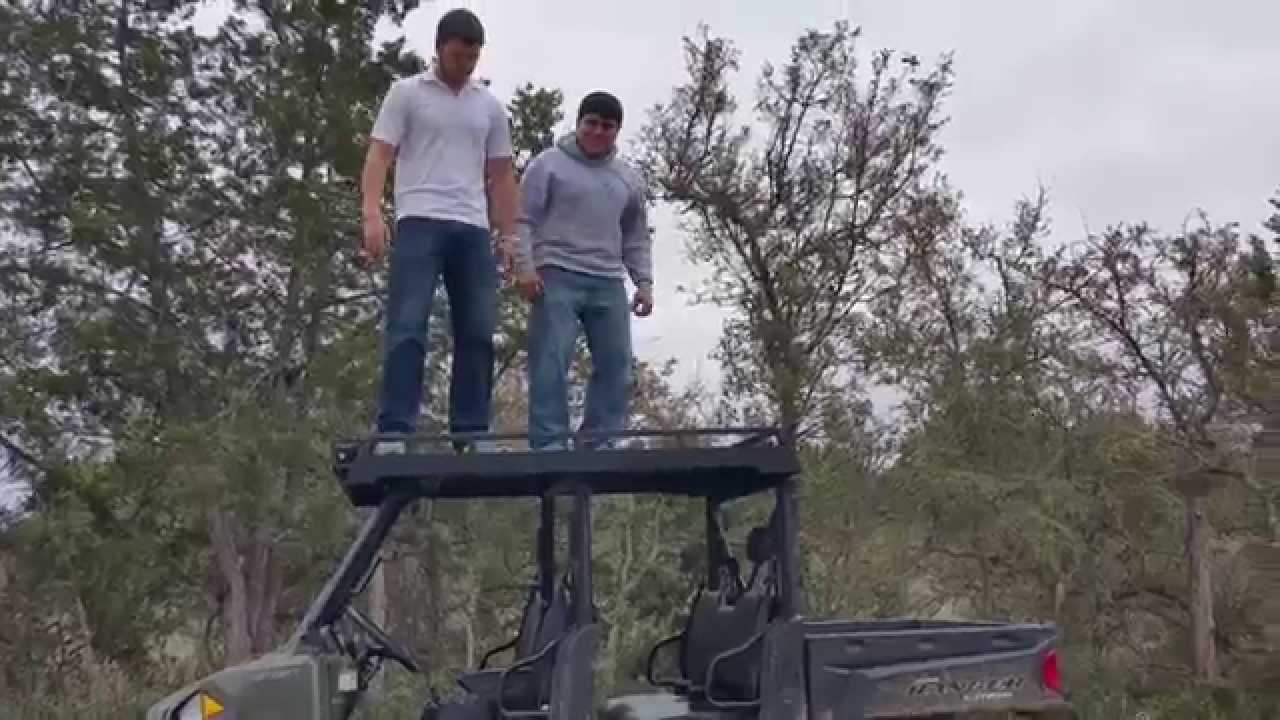 Standing On Our Polaris Ranger 900 Crew Metal Roof   RanchArmor Series