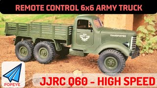 6x6 JJRC Q60 Military Truck | Remote Control HIGH SPEED ARMY Truck Unboxing | RC With Popeye