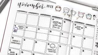 November Bullet Journal Plan With Me and Set up!