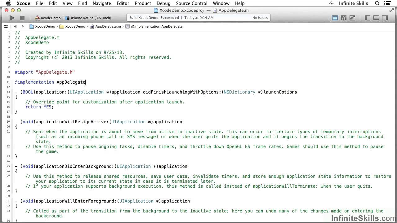 Objective c background image view - Objective C Programming Tutorial Introducing The Workspace Window