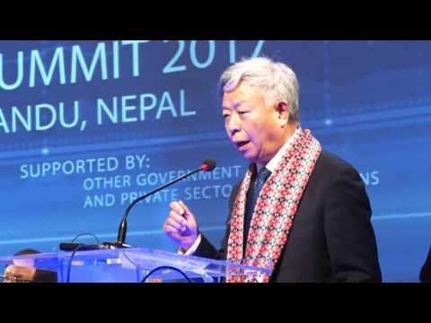 AIIB President Mr. Jin Liqun speaking-Nepal Investment Summit