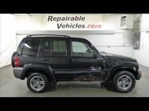 2004 jeep liberty sport columbia edition v6 4dr 4x4 repairables rebuildable stock 12040395. Black Bedroom Furniture Sets. Home Design Ideas