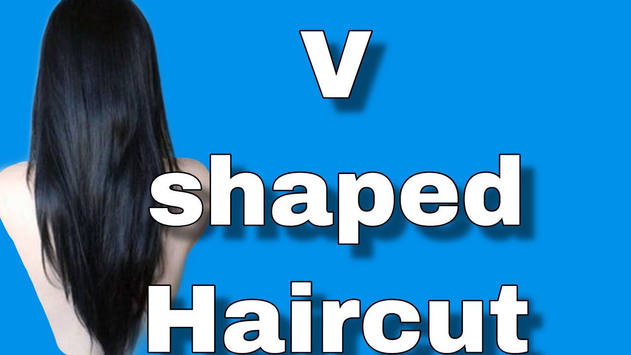 Ultra Easy V Shaped Haircut At Home Gloria Glam Youtube