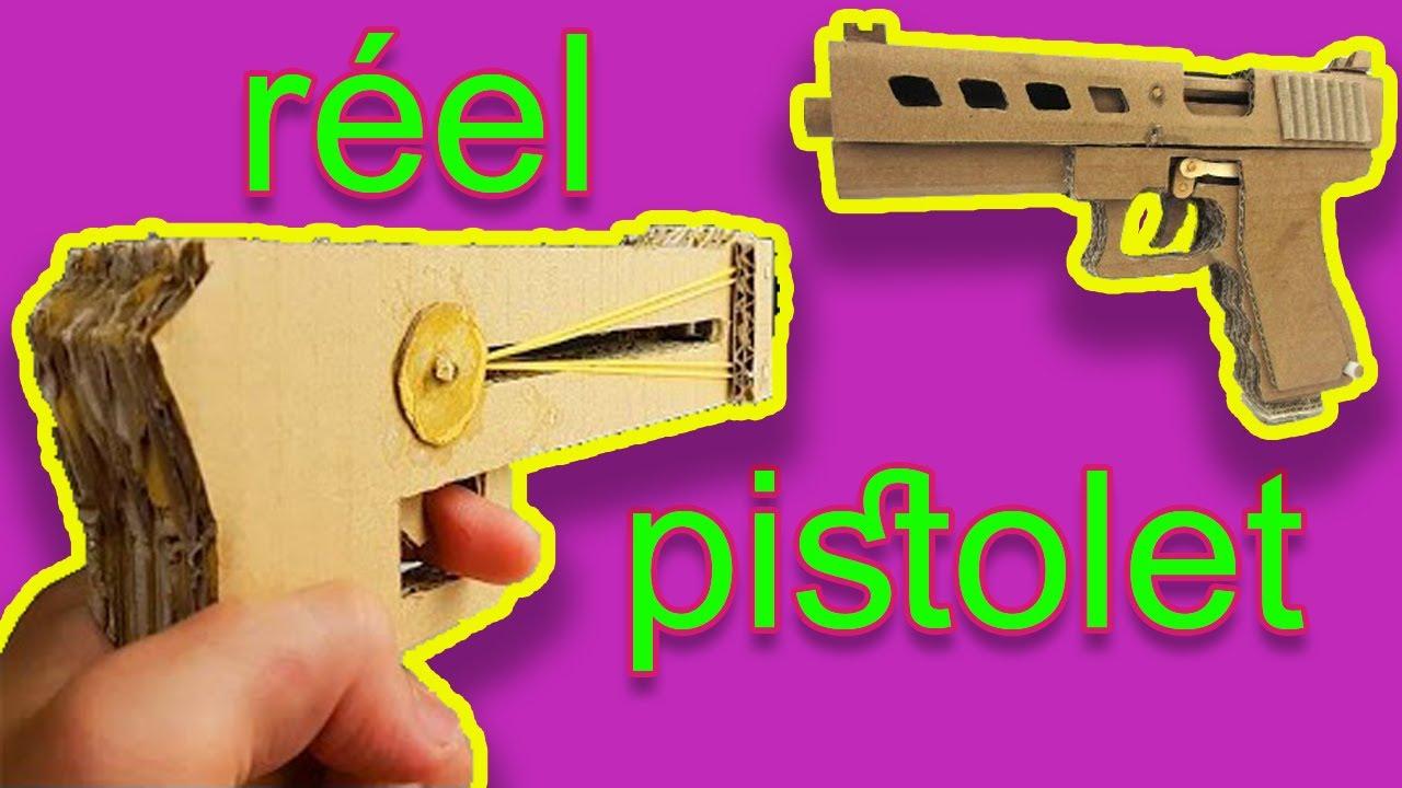 Voir comment faire un vrai pistolet en carton seulement youtube - Comment fabriquer un pistolet ...