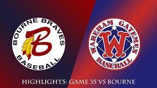 Gatemen Baseball Network Highlights: Wareham Gatemen vs. Bourne Braves (7/20/18)