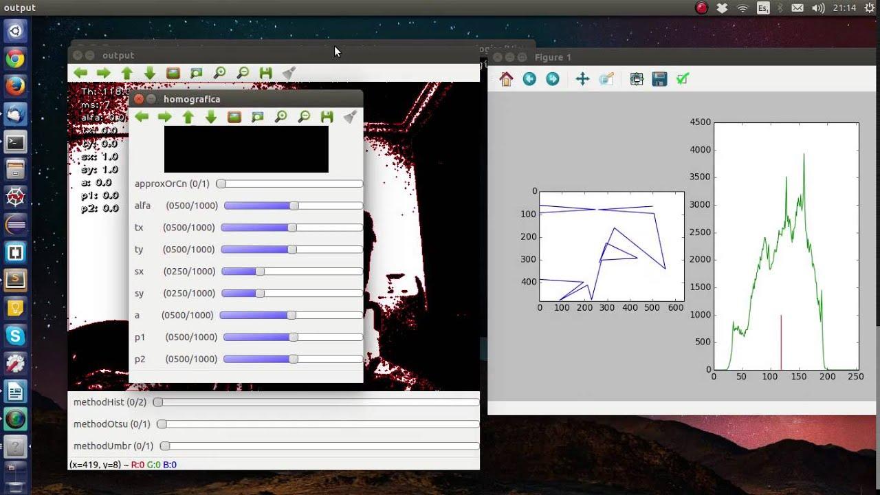 Otsu Threshold and Homographic Transformations Python 2 7 + OpenCV