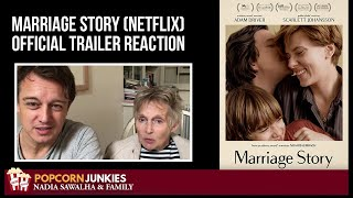 MARRIAGE STORY (Netflix OFFICIAL Trailer) The Popcorn Junkies FAMILY Reaction