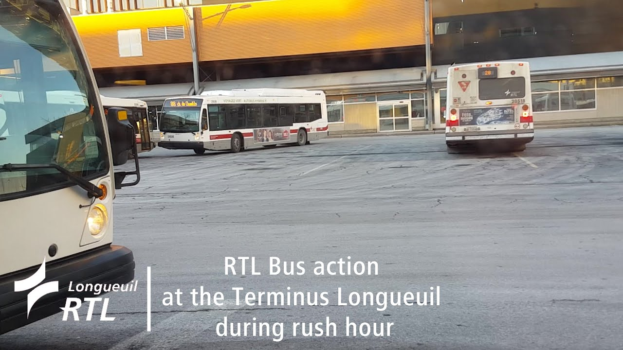 rtl bus action at the terminus longueuil during rush hour youtube. Black Bedroom Furniture Sets. Home Design Ideas