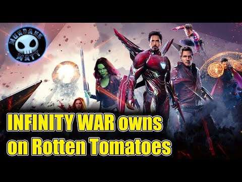 AVENGERS INFINITY WAR owns the Tomatometer