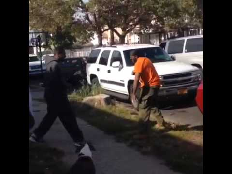 50 Cent getting into a fight in Queens(Hd)