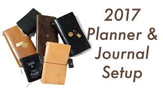 2017 Planner and Journal Setup | Midori Traveler's Notebook