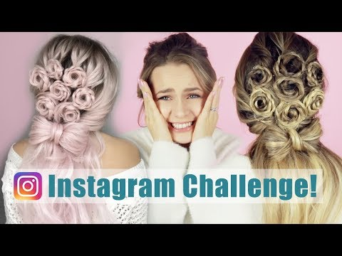 Instagram Hair Challenge: I Turned My Hair Into a Viral Flower Bouquet Hairstyle!! - KayleyMelissa