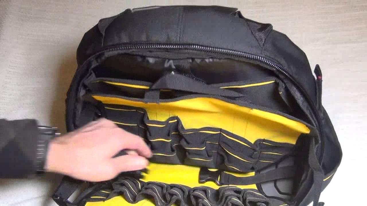 Stanley 195611 Fatmax Tools Backpack Racksack full look