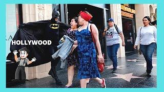 HOLLYWOOD: All kinds of weird STREET PERFORMERS in CALIFORNIA (USA)