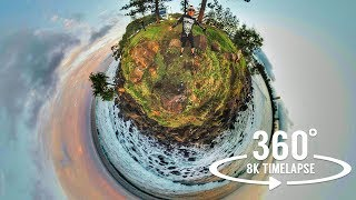 8k 360 timelapse video Gold Coast, Surfers Paradise, Queensland Australia   Insta360 Pro