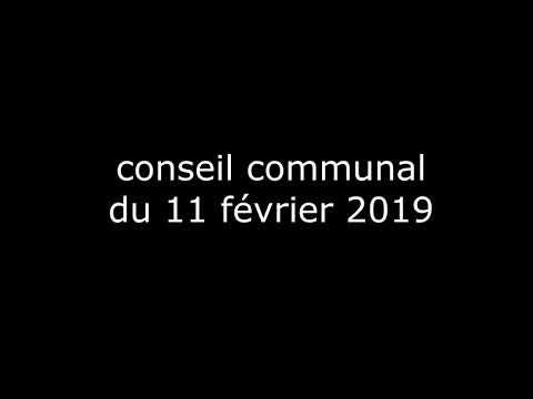 Enregistrement sonore du  conseil communal du 11 février 2019