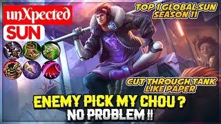 Enemy Pick My Chou ? No Problem !! [ unXpected Sun ] Mobile Legends