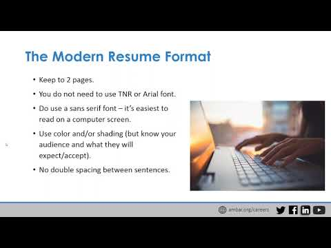 how to build a modern competitive legal resume youtube