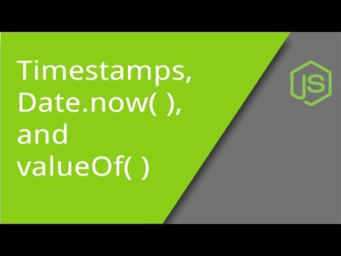 Timestamps, Date now( ) and valueOf( ) - YouTube