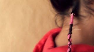 Como hacer una trenza de hilo Wrap // hippie
