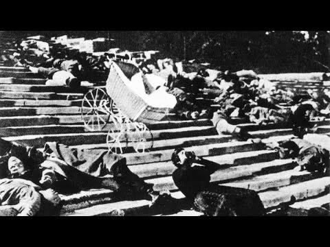 an analysis of the film battleship potemkin Sequence analysis the odessa steps in the battleship potemkin in an essay entitled the structure of film, eisenstein discusses the importance of his montage of conflict as a vital element in the construction of a portion of the odessa steps massacre.