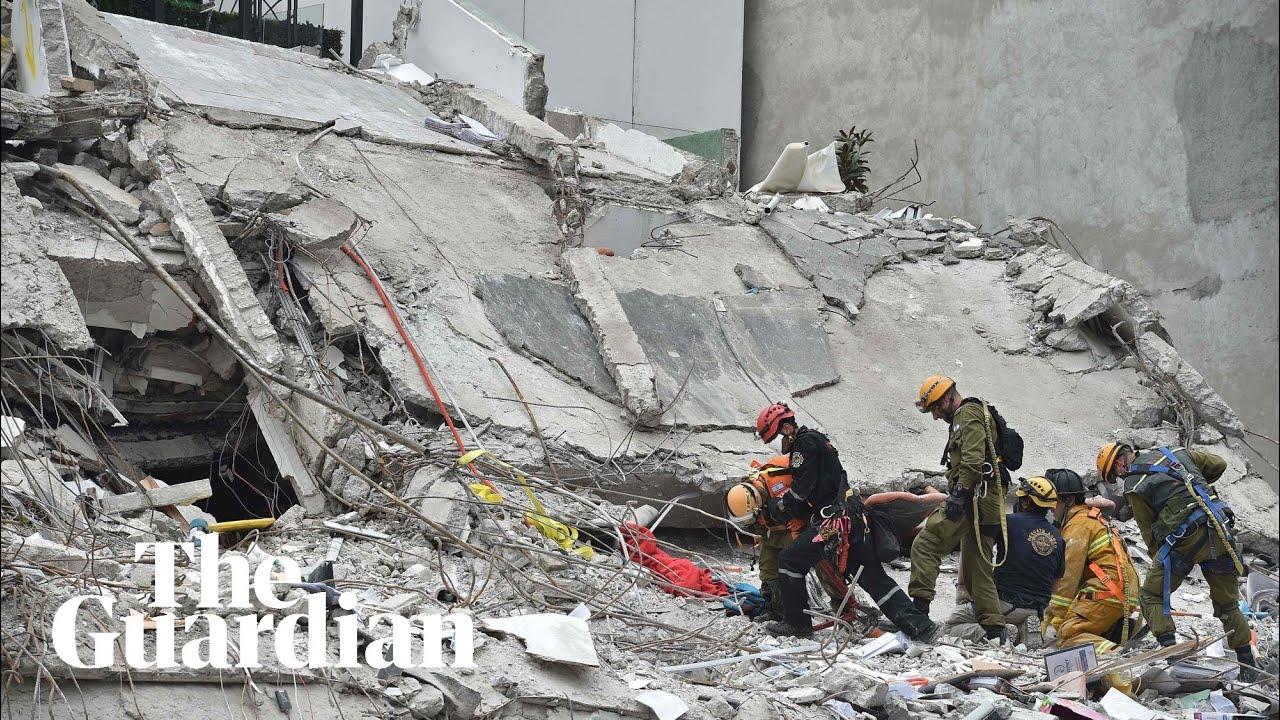Rescuers continue search for survivors of Mexico earthquake –video