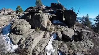 Beautiful North Lake Tahoe overlook above the Tahoe Rim Trail