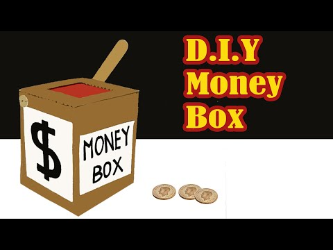 How to make simple money saving box  at home || DIY Piggy Bank