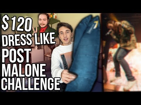 $120 DRESS LIKE POST MALONE CHALLENGE!