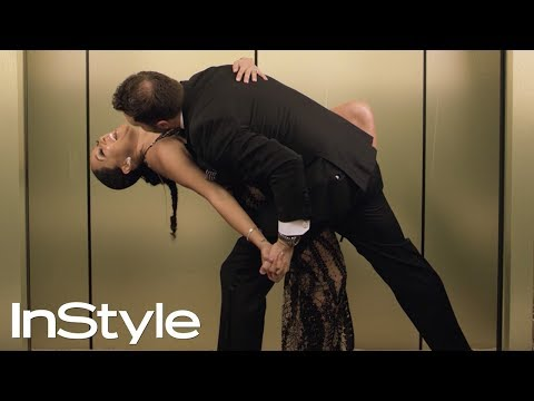 Tamera Mowry | 2018 Golden Globes Elevator | InStyle