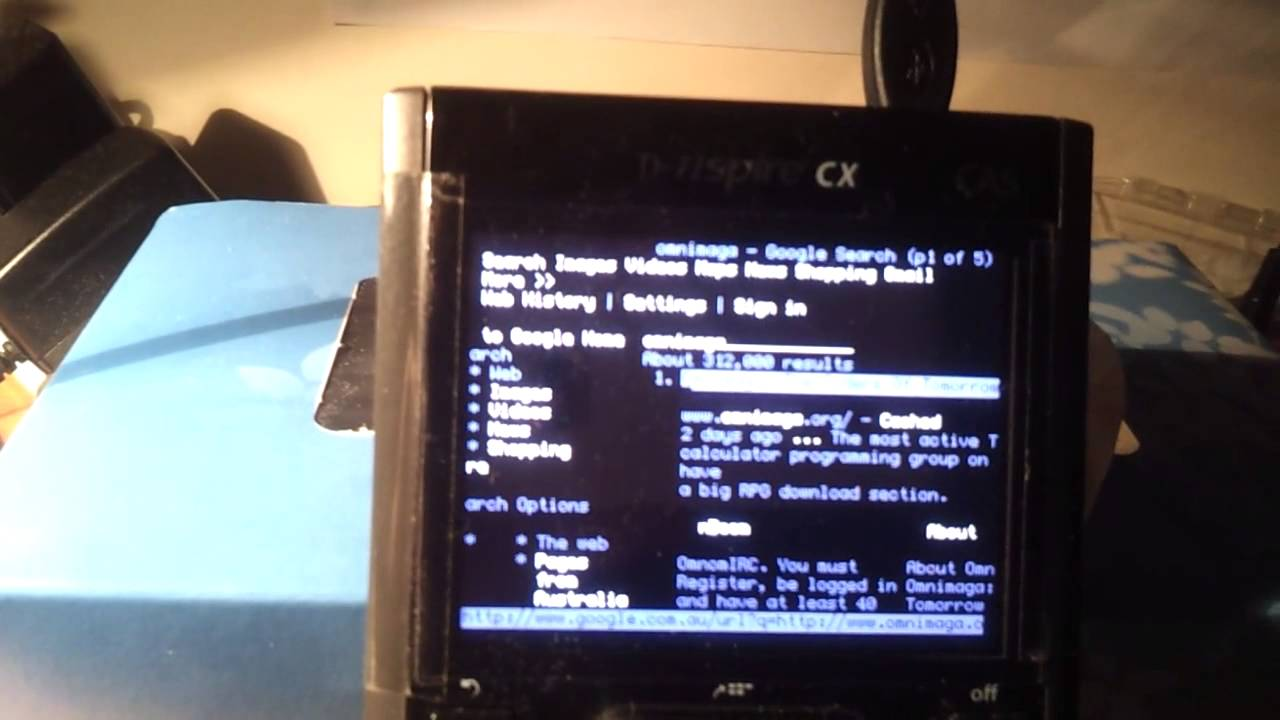 Text-based internet on TI-Nspire Linux
