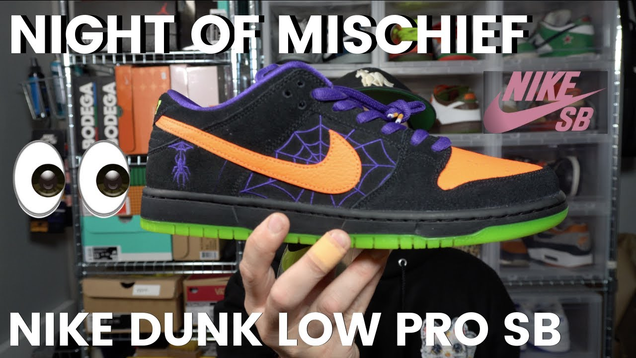 An Early Look At The Night Of Mischief Nike Dunk Low Pro Sb Halloween Sneakers Youtube